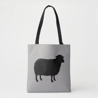 Bolso De Tela Silueta de las ovejas negras