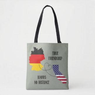 Bolso De Tela Silueta Timo de la amistad de Alemania California