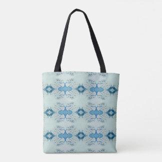 Bolso De Tela Sombras bonitas de azules en modelo moderno