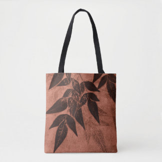 Bolso De Tela Sombras de hojas en moho