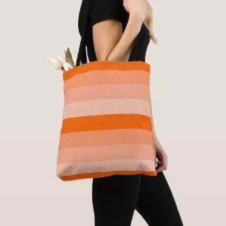 Bolso De Tela Sombras de rayas anaranjadas