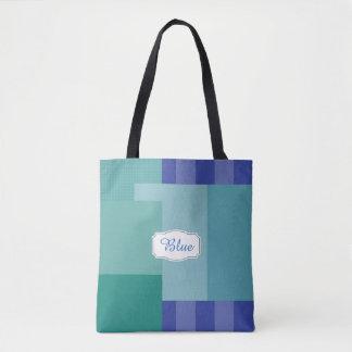 Bolso De Tela Sombras del azul en squares&rectangles
