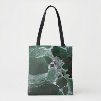Bolso De Tela Sombras profundas infrecuentes del mármol verde