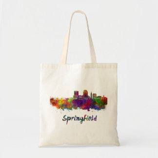 Bolso De Tela Springfield MA skyline in watercolor
