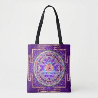 Bolso De Tela Sri púrpura Yantra
