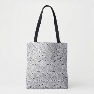 Bolso De Tela Succulents grises manchados de tinta