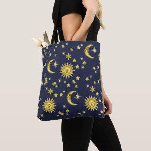 9c10a5c41 Bolsos Sol Y Luna Estrellas | Zazzle.es