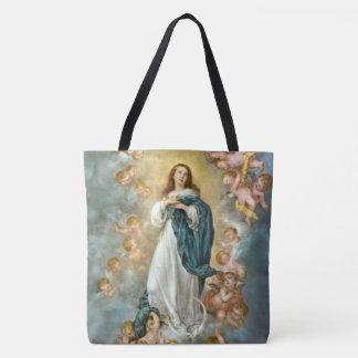 Bolso De Tela Suposición de Maria en cielo