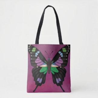 Bolso De Tela Swallowtail manchado púrpura