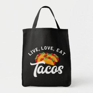 Bolso De Tela Tacos vivo H del amor