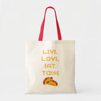Bolso De Tela Tacos vivo V del amor