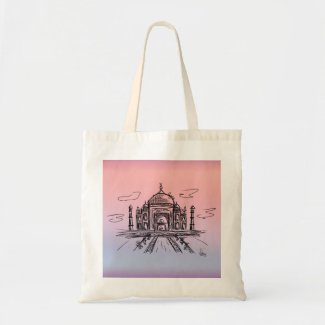 Bolso De Tela Taj Mahal a color