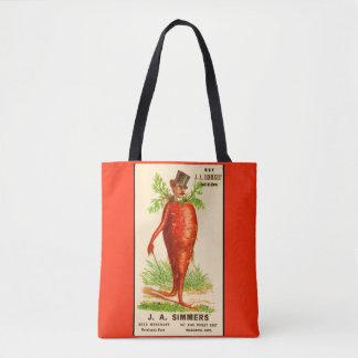 Bolso De Tela tarjeta del comercio del Victorian del hombre de