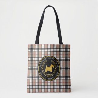 Bolso De Tela Tela escocesa de Yourberry del Ringside de Terrier