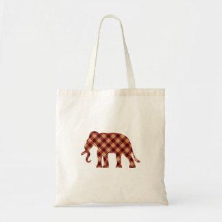 Bolso De Tela Tela escocesa del elefante