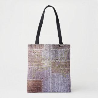 Bolso De Tela Textura de cuero original del arte de la alfombra
