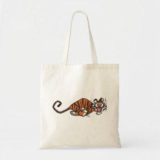 Bolso De Tela Tigre corriente del dibujo animado