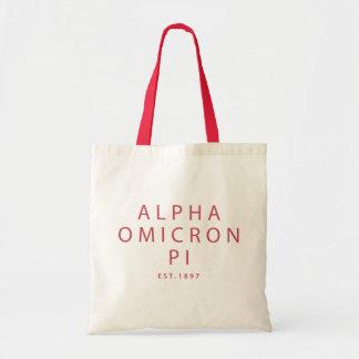 Bolso De Tela Tipo moderno alfa de Omicron pi