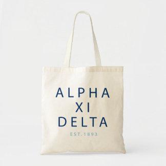 Bolso De Tela Tipo moderno del delta de la alfa XI
