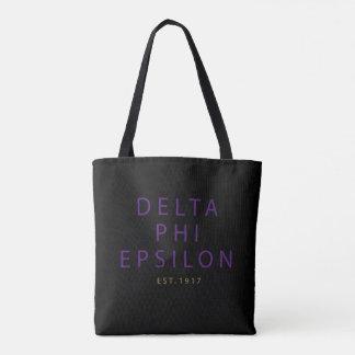 Bolso De Tela Tipo moderno épsilon de la phi del delta