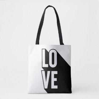 Bolso De Tela Tipografía larga retra de la sombra del amor