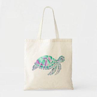 Bolso De Tela Tortuga de mar rosada y verde azulada