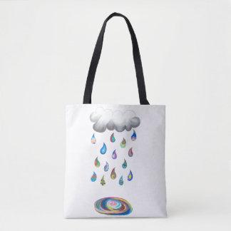Bolso De Tela Tote banal de la lluvia