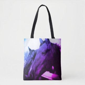 Bolso De Tela Tote - caballo púrpura
