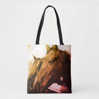 Bolso De Tela Tote - caballo rojo
