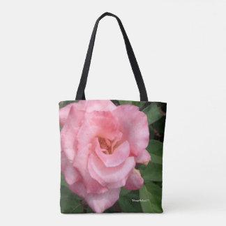 Bolso De Tela Tote color de rosa rosado de la floración de la