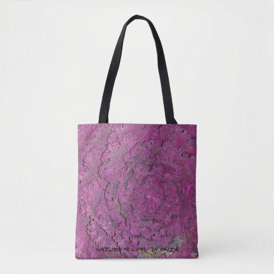 Bolso De Tela Tote con la col púrpura