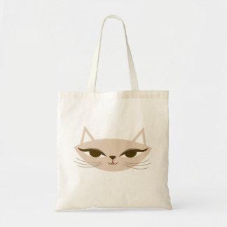 Bolso De Tela Tote coqueto del gatito