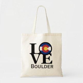 Bolso De Tela Tote de Boulder Colorado del AMOR