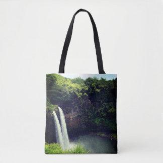 Bolso De Tela Tote de la cascada 1 de Hawaii