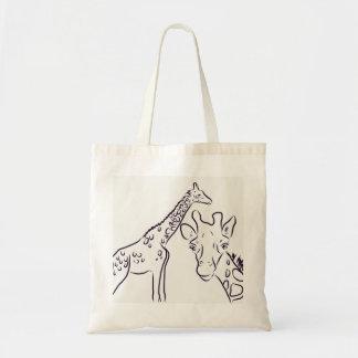 Bolso De Tela Tote de la jirafa