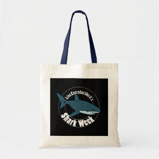 Bolso De Tela Tote de la semana del tiburón