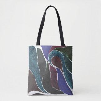 Bolso De Tela Tote de la torsión del color (gemas oscuras)