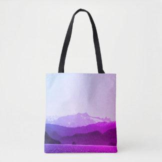 Bolso De Tela Tote de las montañas púrpuras
