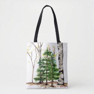 Bolso De Tela tote de los árboles de pino