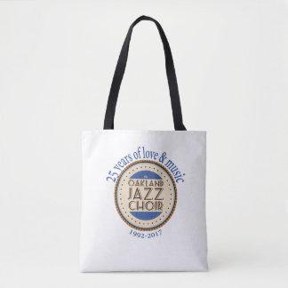 Bolso De Tela Tote del aniversario del coro del jazz de Oakland