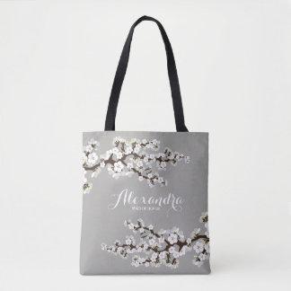 Bolso De Tela Tote del banquete de boda de Sakura de las flores