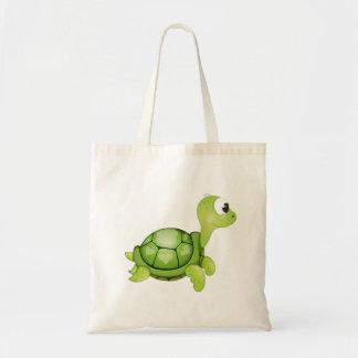 """Bolso De Tela Tote del carácter de la tortuga del """"pequeño del"""