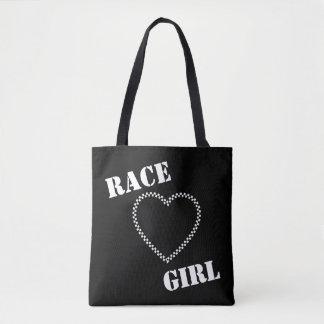 Bolso De Tela Tote del chica de la raza