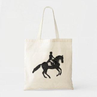 Bolso De Tela Tote del Dressage - diseño del mosaico del caballo