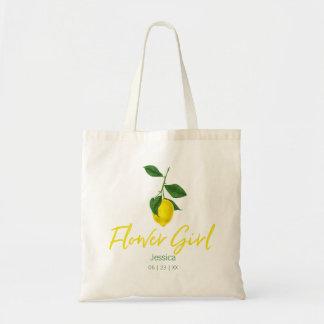 Bolso De Tela Tote del florista del verano el | del limón