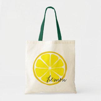 Bolso De Tela Tote del limón de la fruta cítrica del verano