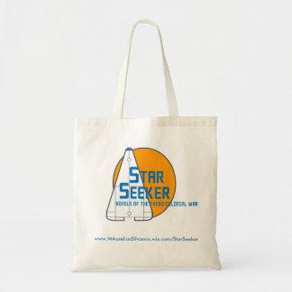 Bolso De Tela Tote del logotipo del buscador de la estrella -
