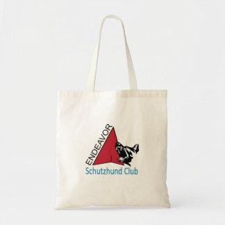 Bolso De Tela Tote del logotipo del club de Schutzhund del