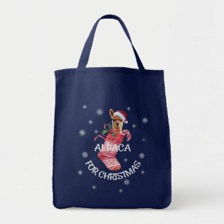 Bolso De Tela Tote del navidad de la alpaca