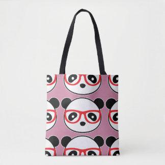 Bolso De Tela Tote del oso de panda del dibujo animado